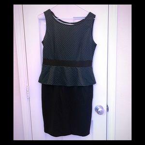 AA Studio black Teal Peplum Dress Size 8 Party